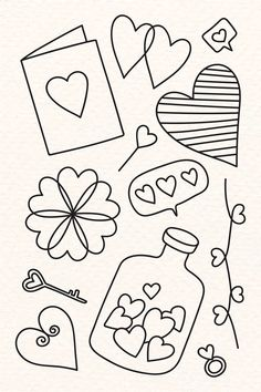 valentines day drawings Hand drawn love and valentines day doodle vector collect. valentines day drawings Hand drawn love and valentines day doodle vector collection Easy Love Drawings, Easy Doodles Drawings, Mini Drawings, Hand Doodles, Love Doodles, Simple Doodles, Valentines Day Doodles, Valentines Day Drawing, Bullet Journal Banner
