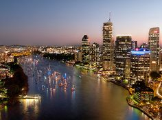 """Brisbane, """"The River City"""" .. The capital of Queensland. .. Culture, fun, great weather, surrounded by the Gold Coast and the Sunshine Coast. .. All you want in a holiday except snow."""
