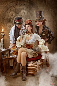 """steampunktendencies: """" Steampunk Bandit Queen """""""