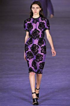 Sheer purple & black dress | Giles Fall 2012 collection