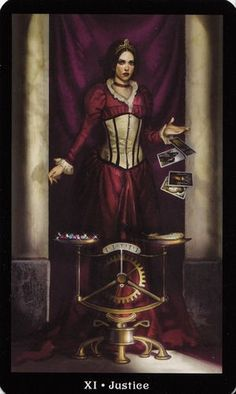 More beautiful Tarot card artwork from the Steampunk Tarot card deck.