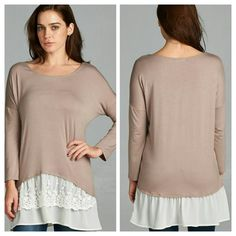 The Latte Tunic in size S M L Beautiful double layer Tunic in a sultry Light mocha shade.  Material is rayon and spandex  Perfect for the season  Size S M L Please indicate your size   PRICE FIRM UNLESS BUNDLED  Follow me on Facebook Sweet-bb Boutique  Tops Tunics