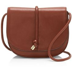 Vince Camuto Sonia Crossbody ($205) ❤ liked on Polyvore featuring bags, handbags, shoulder bags, brown purse, vince camuto, brown cross body purse, vince camuto purses and brown crossbody purse