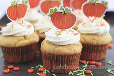 Trang trí bánh theo sở thích cho thật bắt mắt - Cupcakes bí đỏ
