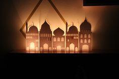 DIY Paper mosque lantern – Free printable! Ramadan crafts.