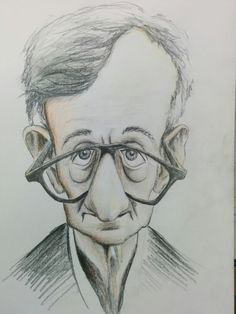 Woody Allen (Caricature) Dunway Enterprises - http://www.learn-to-draw.org/caricatures_clb.html?hop=dunway