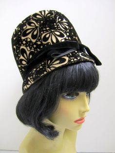 1960s Mod Hat Bucket style Vintage Mad Men by VintageWearTreasures Mad Men  Fashion d0867cb215e8