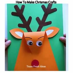 How To Make Chrismas Crafts Wie man Weihnachten bastelt Creative Crafts, Diy And Crafts, Paper Crafts, Daycare Crafts, Toddler Crafts, African Crafts, Autumn Crafts, Animal Crafts, Christmas Crafts For Kids