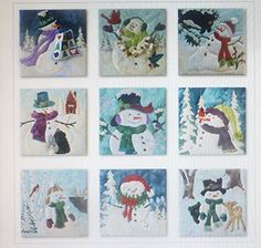 McKenna Ryan~Snow Buds~Pre-Cut Laser Applique Kit With Fabric~9 BLOCKS~COMPLETE~Fast Shipping K146