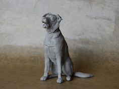 'Rocco' Smooth-coated Border Collie - made by Harriet Knibbs Sculptures
