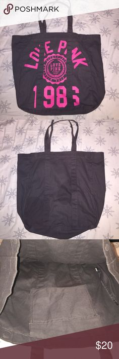 VS Pink Tote great condition. magnets shut. small pocket on inside (as pictured). PINK Victoria's Secret Bags Totes