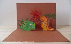 How to make a card with pop-up dinosaurs