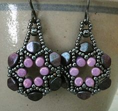 Linda's Crafty Inspirations: Evangelina Earrings - Arula Earrings with Pinch Beads