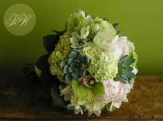 wedding bouquet with succulents and roses | ... with succulents in Bridal Bouquets , succulent gardens , Succulents