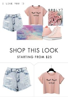"""""""Untitled"""" by thenerdyfairy on Polyvore featuring Boohoo and Converse"""