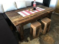 Old Wood, Interior, Table, Furniture, Home Decor, Impressionism, Decoration Home, Room Decor, Design Interiors