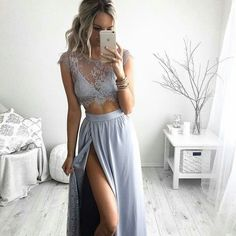 Cheap prom dresses for teens, Buy Quality two piece prom dresses directly from China prom dresses 2016 Suppliers: Sexy Lace Two Piece Prom Dress 2016 Blue Chiffon Prom Dress for Teens A line Evening Gown Lovely Evening Dress Party Dress Prom Dresses 2016, A Line Prom Dresses, Prom Dresses With Sleeves, Cheap Prom Dresses, Ball Dresses, Sexy Dresses, Evening Dresses, Dress Prom, Dress For Party