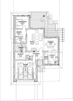 Dream House Plans, Modern House Plans, Drawing House Plans, Home Design Plans, Design Case, House Layouts, Autocad, Future House, Building A House
