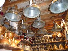 large vintage ship lights | Large selection of ship lights: antique brass lights, starboard/port ...