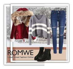 """""""red and gray"""" by alinka-titova ❤ liked on Polyvore featuring women's clothing, women, female, woman, misses and juniors"""