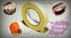 Fita crepe é multiuso: 8 ideias superlegais para usá-la na casa, roupas e beleza