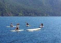 Paddleboarding on Lake Crescent - looks so fun!