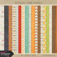 School Fun Papers Kit by Sheila Reid:)
