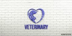 """""""Veterinary Dog and Cat Logo. Wall Design. 3D Render Illustration"""" Stock photo and royalty-free images on Fotolia.com - Pic 196707570 #dog #animal #paw #mammal #pet #puppy #vet #veterinary #kitty #Cat #mascot #logo #illustration #graphic #icon #vector"""