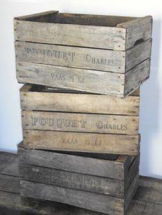 Caisse en bois à pommes - Origine Française www.lartdelacaisse.fr - Qualité & Livraison OK