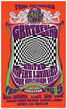Cartel muerto agradecido Vancouver 1966 reimpresión firmado a mano por artista Orig Bob Masse Grateful Dead Live, Grateful Dead Poster, Rock Posters, Band Posters, Music Posters, Vancouver, Vintage Concert Posters, Vintage Posters, Vintage Graphic