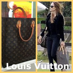 Louis Vuitton Sac Plat Authentic Louis Vuitton Monogram Sac Plat bag features the iconic monogram canvas print. Ideal for carrying documents and for shopping. Spacious interior, large opening for easy access, dual rolled leather handles (nice patina) and washable lining. Brass key ring inside. Code is MI0080. Made in France. Very gently used. Some marks inside; a few scuff marks on exterior. The same style LV that Angelina Jolie has carried, as seen in the media. With original tag and dust…