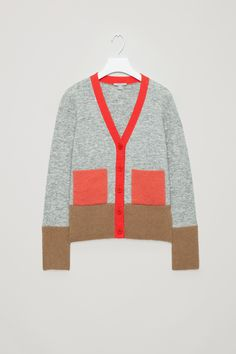 COS | Colour-block cardigan with mohair pockets