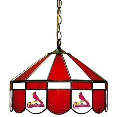 """Use this Exclusive coupon code: PINFIVE to receive an additional 5% off the St. Louis Cardinals 16"""" Glass Lamp at SportsFansPlus.com"""