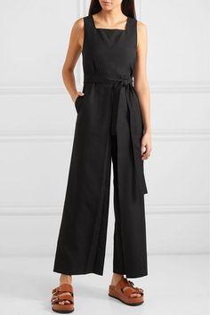 70c5d029fcd Gucci Women's Short Sleeve GG Belt Cady Crepe Jumpsuit in 2019 ...