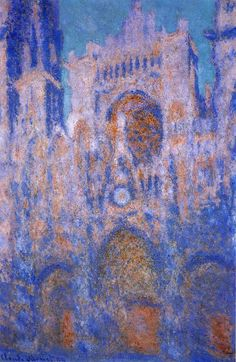 Learn more about Rouen Cathedral Symphony In Grey And Rose Claude Oscar Monet - oil artwork, painted by one of the most celebrated masters in the history of art. Monet Paintings, Impressionist Paintings, Paintings I Love, Landscape Paintings, Claude Monet, Manet, Renoir, Artist Monet, Rouen