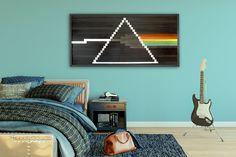 Large Modern Rustic Wall Art  Pink Floyd's Dark Side of the Moon