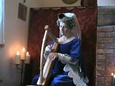 Medieval Harp - Angelus ad Virginum and English 13th Century piece. Played on a reproduction wire-strung harp