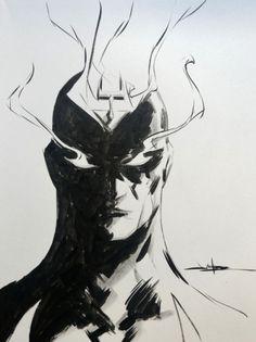 "spaceshiprocket: ""Black Bolt by Jae Lee "" Black Bolt, Black And White, Jae Lee, Comic Art, Comic Books, Marvel Drawings, Marvel Comics Art, My Favorite Image, Art Studies"