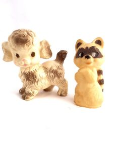 Vintage 1950s Rubber Squeaky Toys Ruth E by sweetserendipityvint