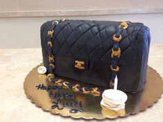 Channel Bag Cake #cookies #livaygoodies #livaysweetshop #plainfieldnj #cakes #cakesnj #cakepops #cupcakes #sprinkles