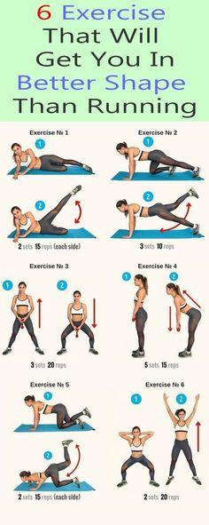 6 exercise that puts you in better shape - Yoga & Fitness - 6 Übung, die Sie in eine bessere Form bringt – Yoga & Fitness 6 Exercise that puts you in bett - Yoga Fitness, Fitness Workouts, Fitness Motivation, Fitness Workout For Women, Running Workouts, Ab Workouts, Physical Fitness, Fitness Diet, At Home Workouts