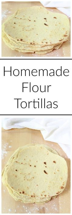 Homemade Flour Tortillas on www.cookingwithru... are so simple to make at home and my recipe uses extra virgin olive oil so they're healthier too!