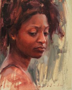 """Fine figure and portrait paintings from David Maiden at http://www.davidmaiden.co.uk/ """"Marci"""" oil on linen 8"""" x 10"""""""