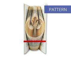 Folded Book Art Pattern - Rebel Alliance - Star Wars - 124 Folds - Bookfolding Pattern - Folded Book Pattern - Book Folding pattern