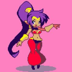 See more 'Shantae' images on Know Your Meme! Pixel Art Gif, Anime Pixel Art, Character Concept, Character Art, Concept Art, Ecchi Neko, Skullgirls, Gifs, Video Game Characters