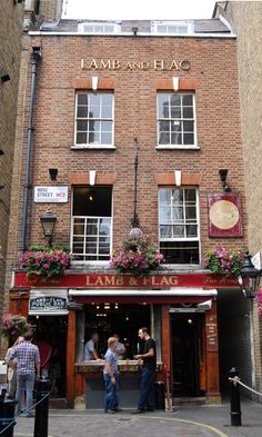As Floral Street ends you'll find Covent Garden's oldest pub, the Lamb & Flag.