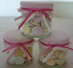 Love Heart Filled Wedding Favour Sweet Jar.