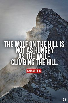Image result for the wolf on the hill is not as hungry