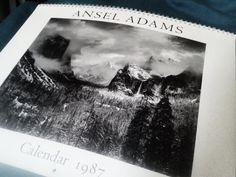 vintage Ansell Adams calendar 1987 by susiestratford on Etsy