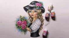 Moça do cabelos caracolados com rosas - Part 1